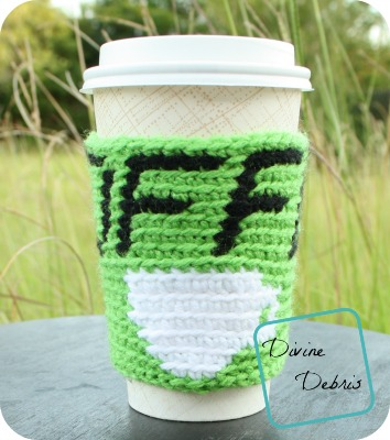 Hot Coffee Cozy free crochet pattern by DivineDebris.com