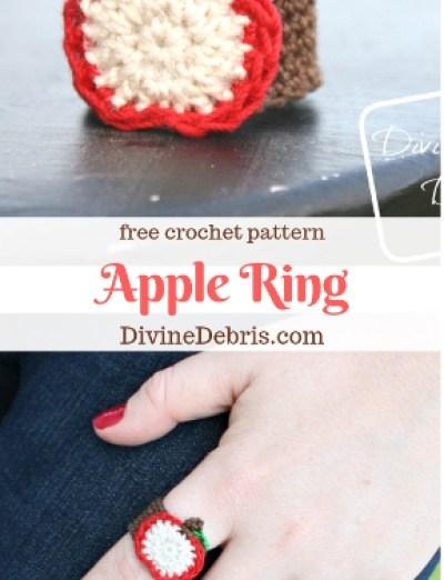 Apple Ring free crochet pattern by DivineDebris.com