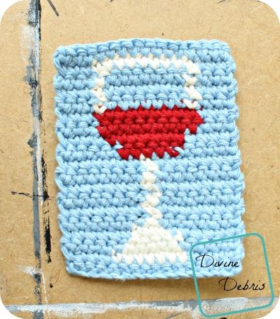 Wine Glass Coaster free crochet pattern by DivineDebris.com