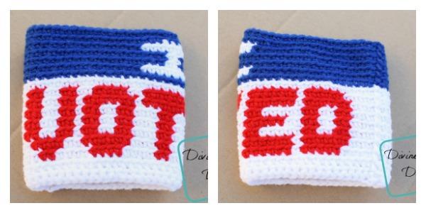 I Voted Mug Cozy free crochet pattern by DivineDebris.com