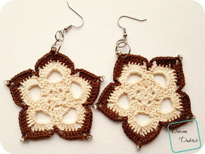 Mini Mandala Earrings crochet pattern by DivineDebris.com