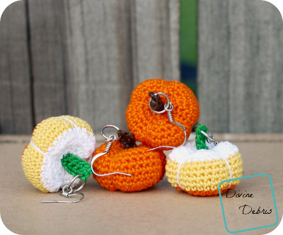 Lobe Pumpkins the Free Crochet Earrings Pattern