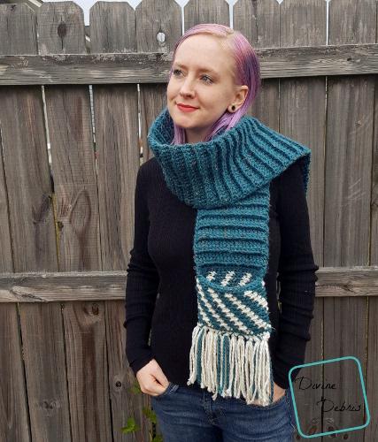 Fiona Scarf free crochet pattern by DivineDebris.com