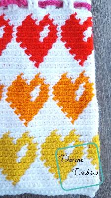 Valentine's Heart Bag crochet pattern by DivineDebris.com