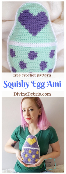 Squishy Egg Ami free crochet pattern by DivineDebris.com #crochet #freepattern #Easter #amigurumi #tapestry