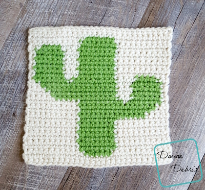 """8"""" Tapestry Cactus Afghan Square crochet pattern by divinedebris.com"""