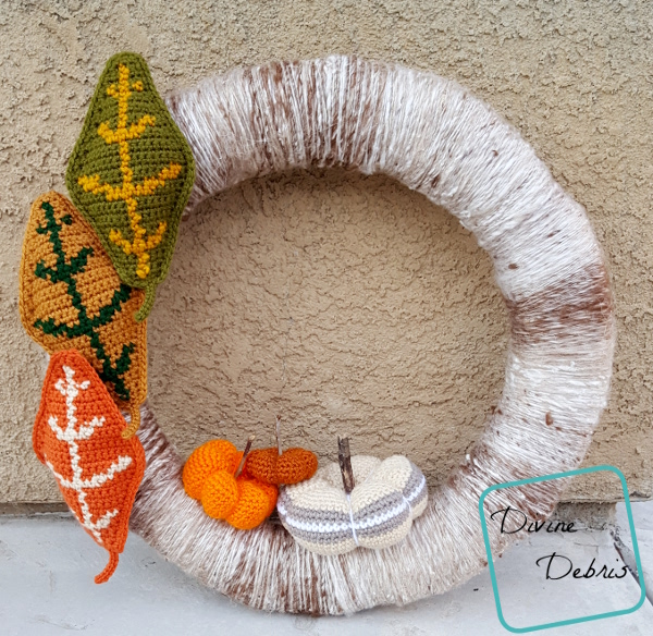 Wreath All About It – the Free Fall Wreath Crochet Pattern