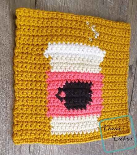 "8"" Tapestry Coffee Mug Afghan Square free crochet pattern by DivineDebris.com"
