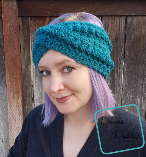 Ashley Headband free crochet pattern by DivineDebris.com