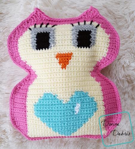 Heart Belly Owl Ami free crochet pattern by DivineDebris.com