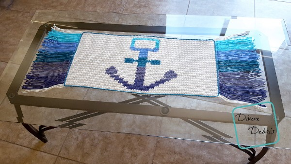 Awesome Anchor Mat free crochet pattern by DivineDebris.com