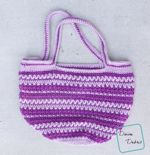 Mary Market Tote Bag free crochet pattern by DivineDebris.com
