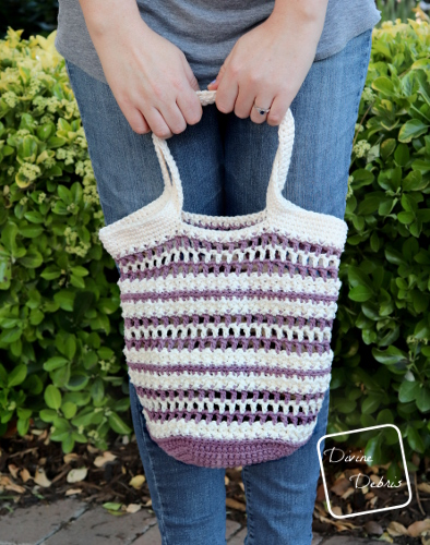 Learn to make the crochet Diana Market tote pattern on DivineDebris.com