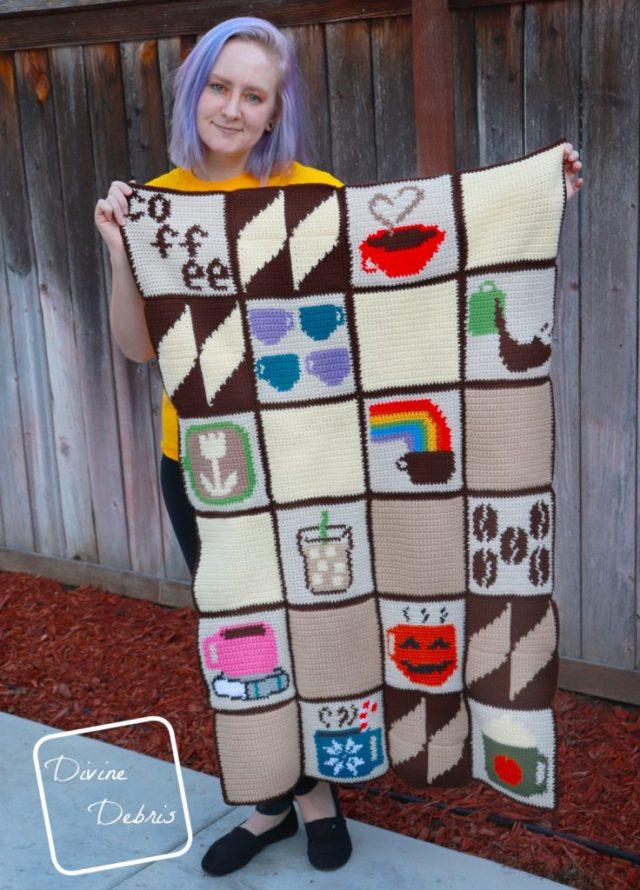 Tapestry Coffee Lapghan pattern by DivineDebris.com