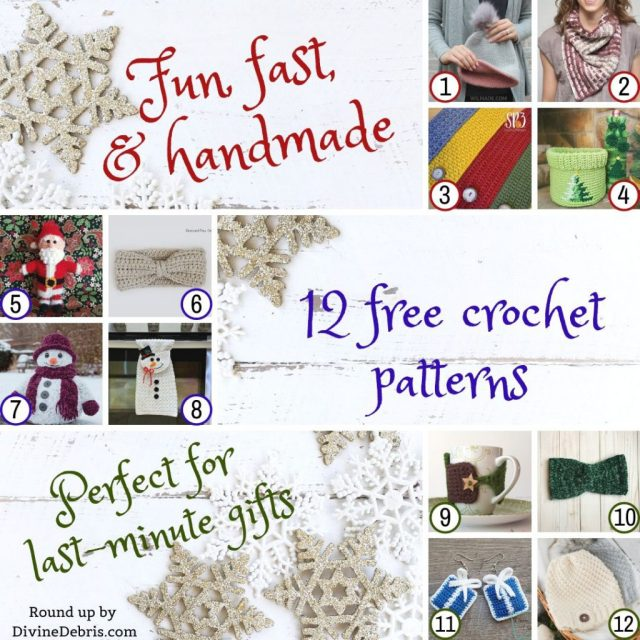 12 quick gift ideas made from free crochet patterns across the web, a round up by DivineDebris.com