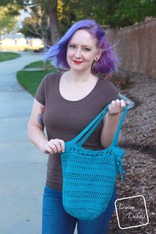 Stephanie Market Bag free crochet pattern by DivineDebris.com