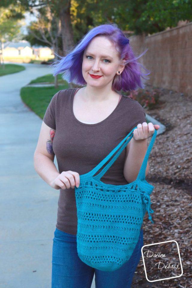 Stephanie Market Bag free crochet pattern by DivineDebris.com