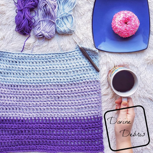 The Melanie Tank Top free crochet pattern by DivineDebris.com