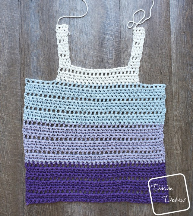 The Melanie Tank Top free crochet pattern by DivineDebris.com