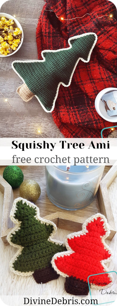 Make a great Christmas with a whole family of crochet tree designs. These Squishy Tree Amis crochet patterns are free and waiting to be made!