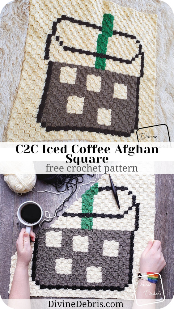In honor of the much beloved Iced Coffee of the Summer season, learn to make the C2C Iced Coffee Afghan Square from a free graph by DivineDebris.com