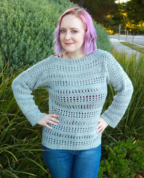 The Stephanie Sweater free crochet pattern by DivineDebris.com