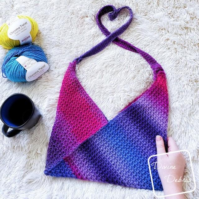 Azuma Bukuro Bag free crochet pattern by DivineDebris.com