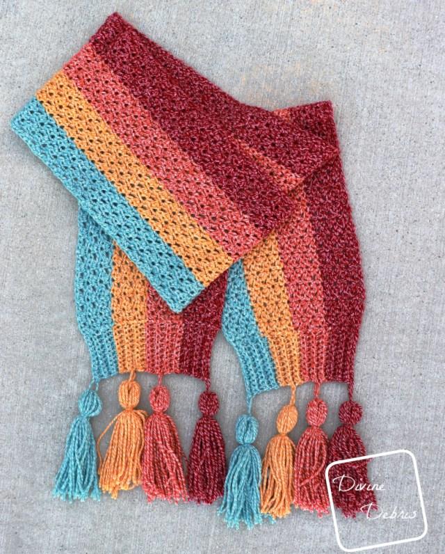Dana Scarf free crochet pattern by Divine Debris