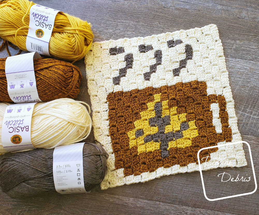 Coffee C2C Square Project – Square 11 crochet pattern