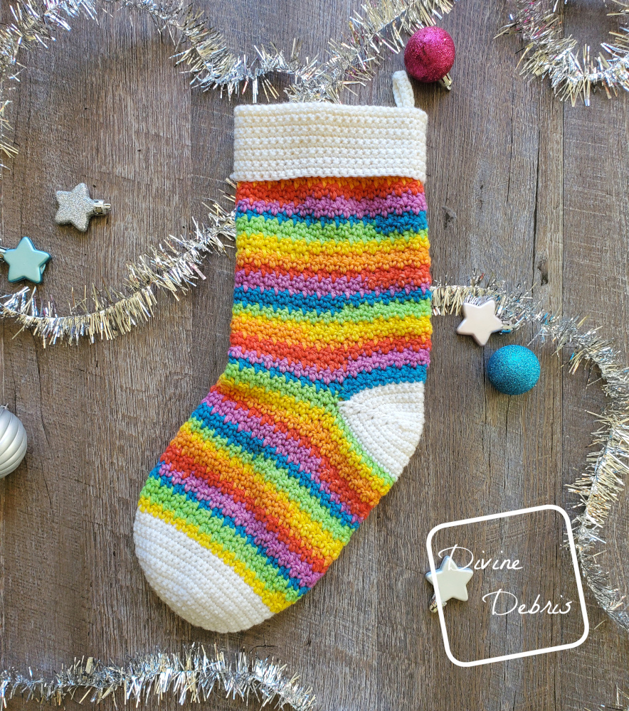Get Jolly with the Kelsey Stocking free crochet pattern