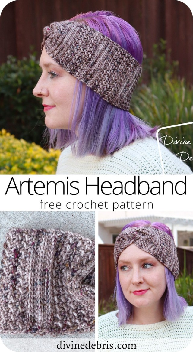 Stand out with this bold the Artemis Headband crochet pattern by DivineDebris.com. Stay on trend with a fun headband but don't look like everyone else.