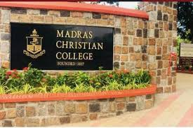 Best college for bsc in india: madras christian college