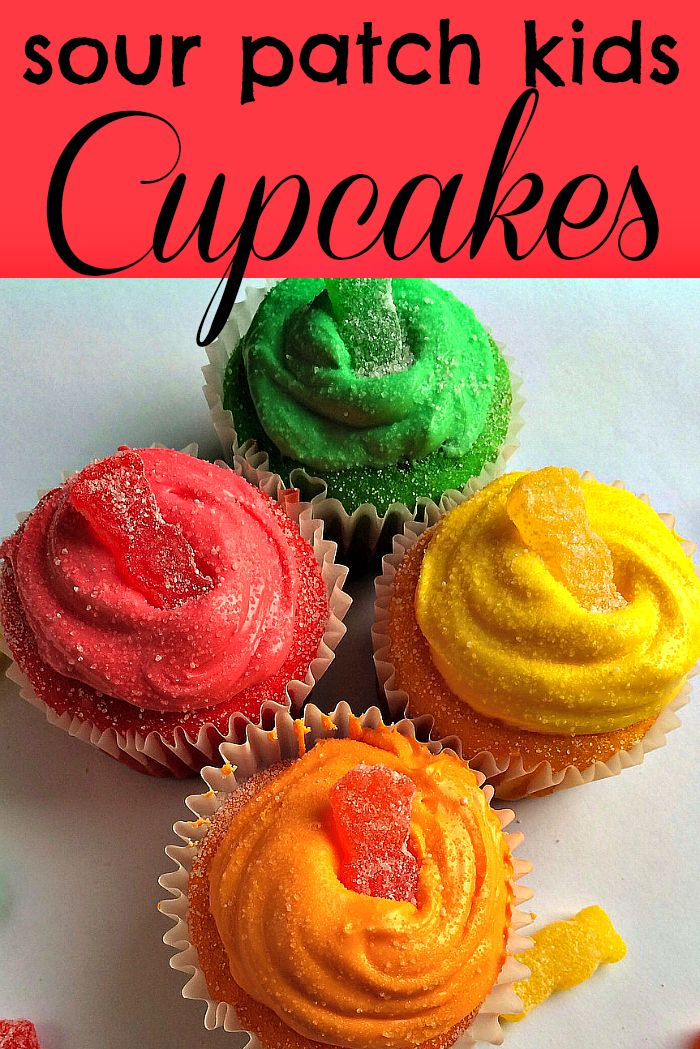 Sour Patch Kids Cupcakes Desserts for Kids