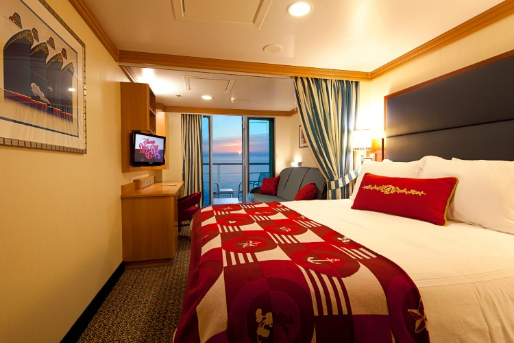 Disney Dream Cruise Ship Cabins Deluxe Oceanview Stateroom with Verandah