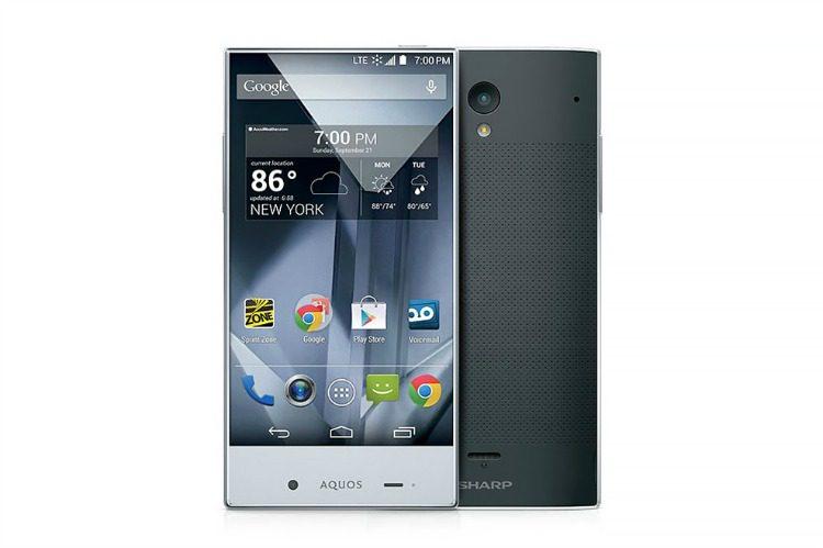 Sharp Aquos Silver Smartphone 3