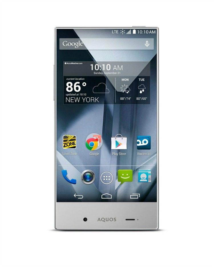 Sharp Aquos Silver Smartphone