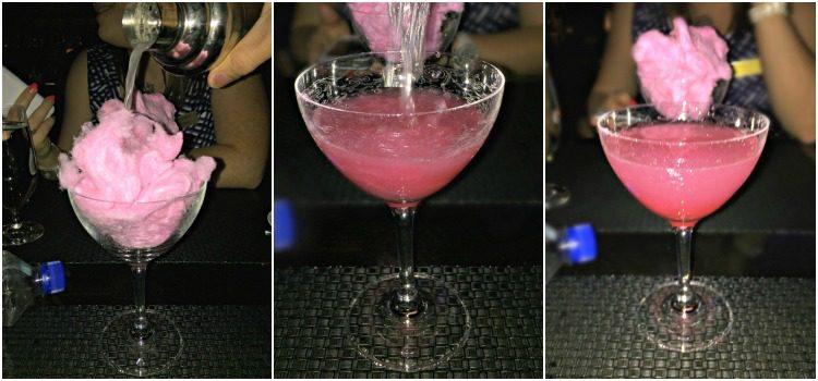 Visiting Las Vegas ARIA Pink Cotton Candy Cocktail #HowWeVegas YUM