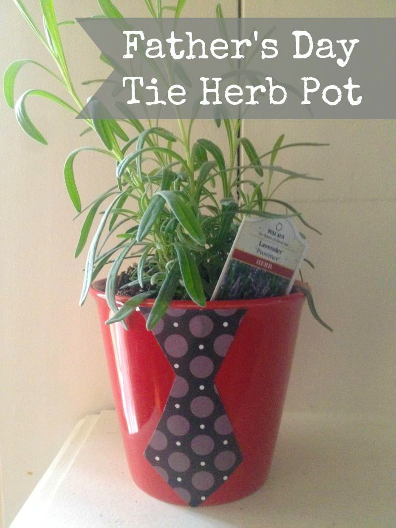 Father's Day Tie Herb Pot