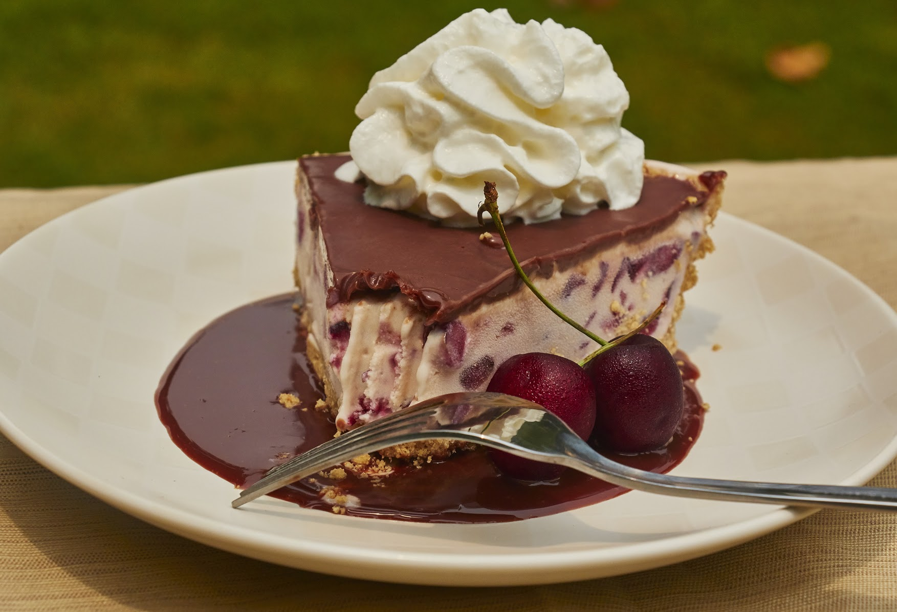 Fresh Cherry & Frozen Custard Pie Recipe with EDY'S® Old Fashioned Vanilla Frozen Custard 10