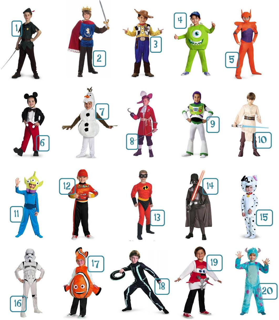 20 Disney Boys' Halloween Costumes Under $30 – Most with FREE Shipping!
