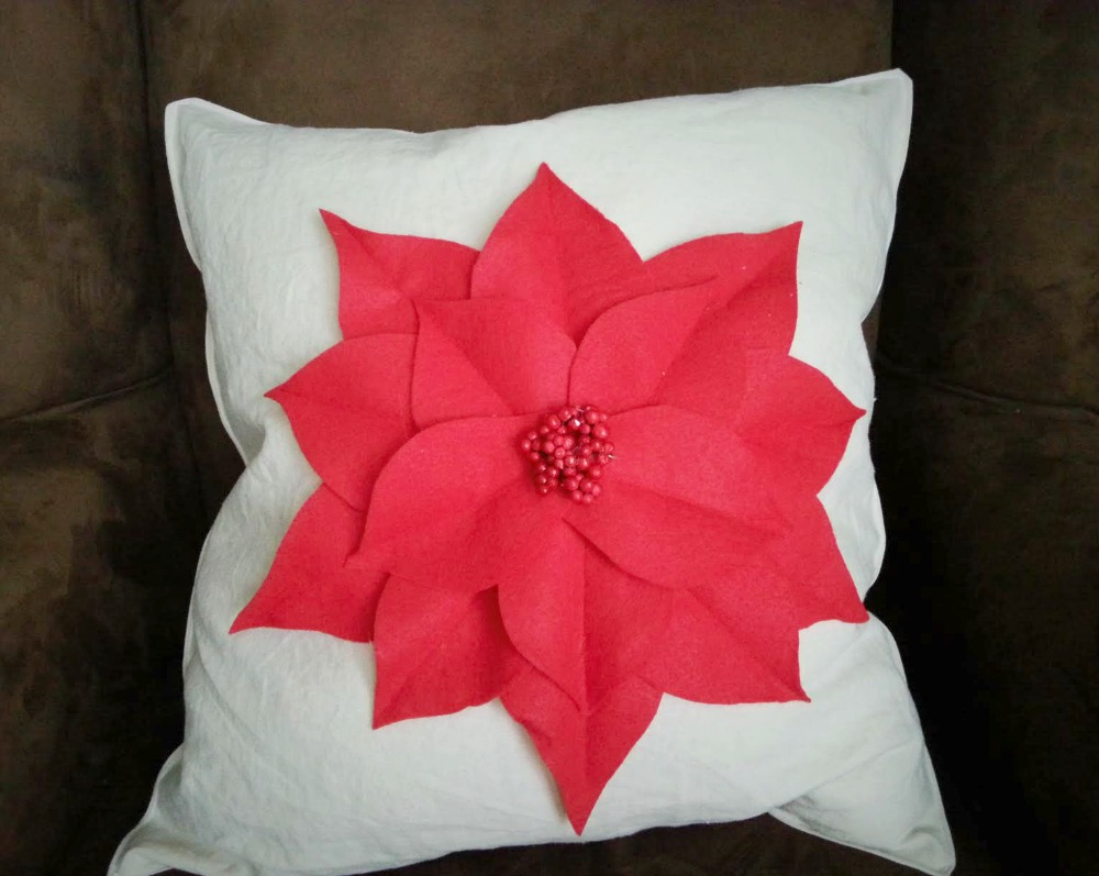Poinsettia Pillow 5
