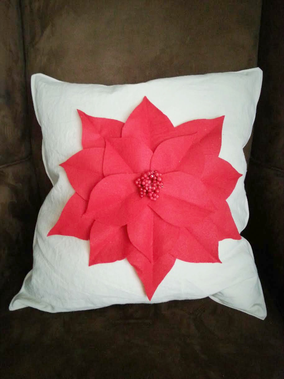 Poinsettia Pillow 6
