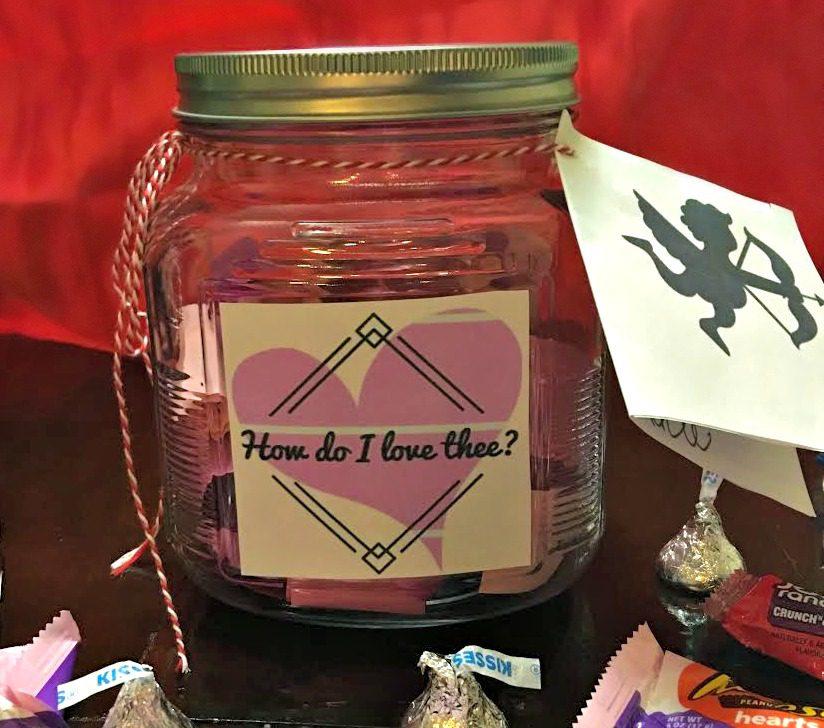 DIY Valentine's Day Jar of Love #HSYMessageOfLove