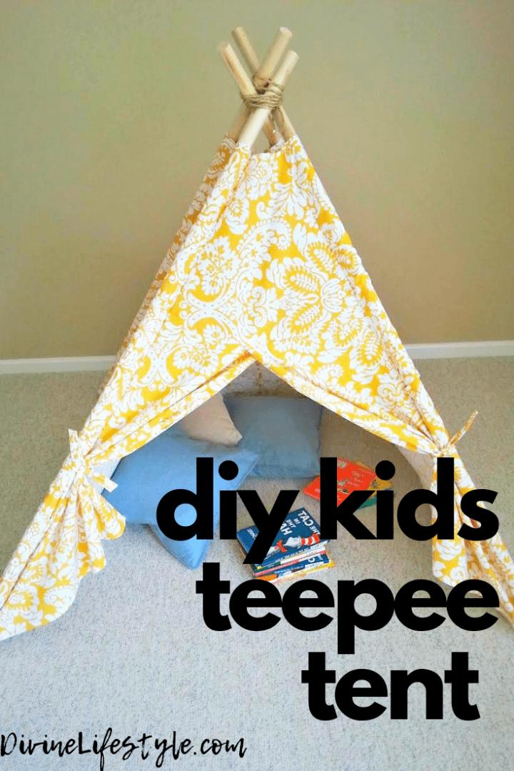 DIY Kids Teepee Tent Tutorial Childrens Craft Tent