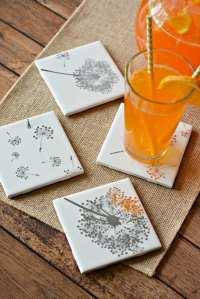 Easy DIY Tile Coasters Gift Girls Night in Craft Divine ...