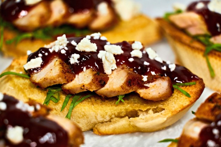 Strawberry Pork Bruschetta Recipe