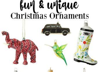 Fun & Unique Christmas Ornaments