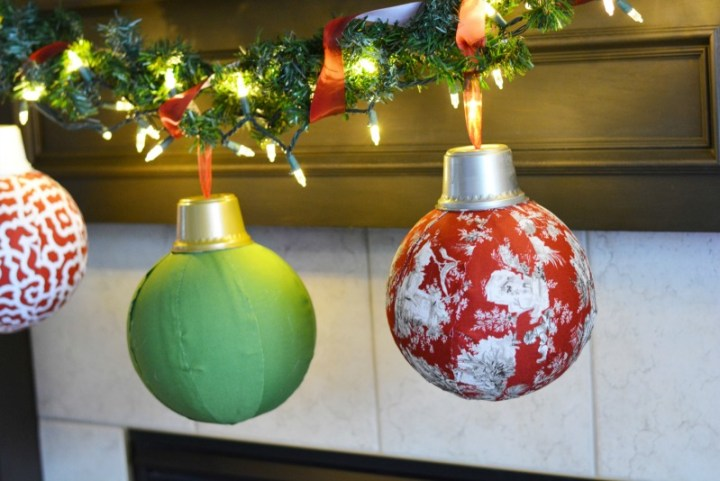 Easy DIY Giant Fabric Ornaments #WaverlyInspirations #InAWaverlyWorld