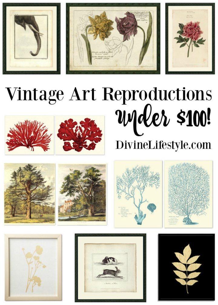 Vintage Art Reproductions Under $100