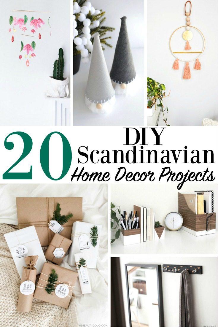 20 DIY Scandinavian Home Decor Projects Modern Minimalist